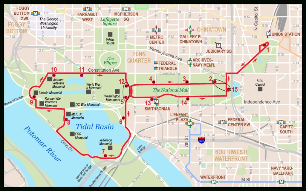 Printable Map Of The National Mall Washington Dc