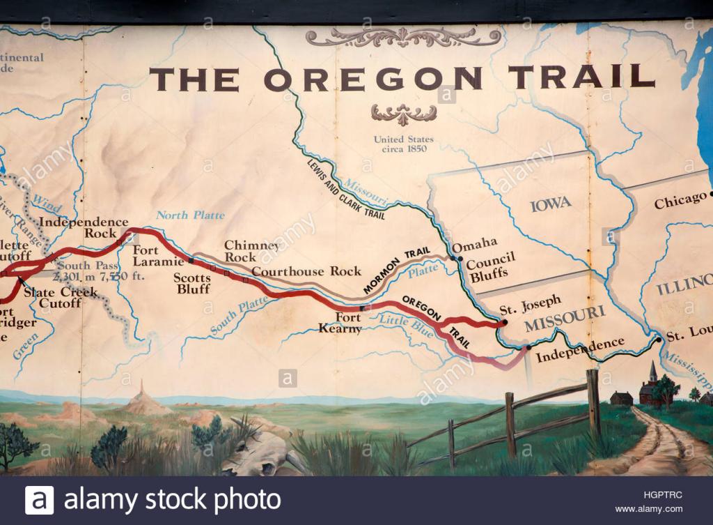 Printable Map Of The Oregon Trail Printable Maps
