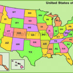 Printable Map Of The United States With State