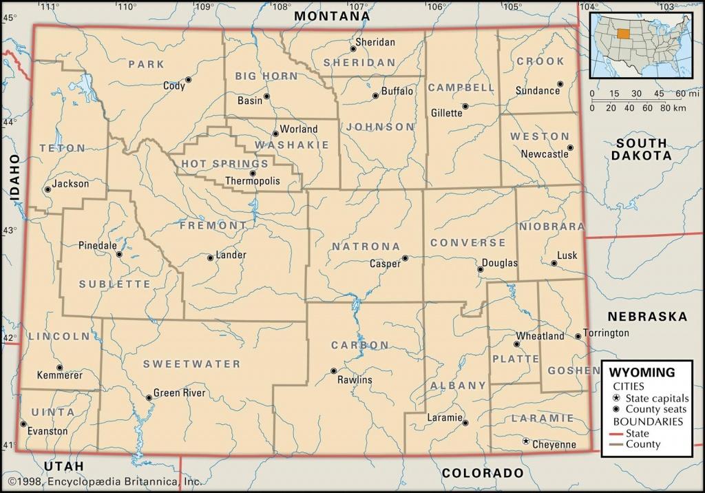 Printable Map Of Wyoming Printable Maps