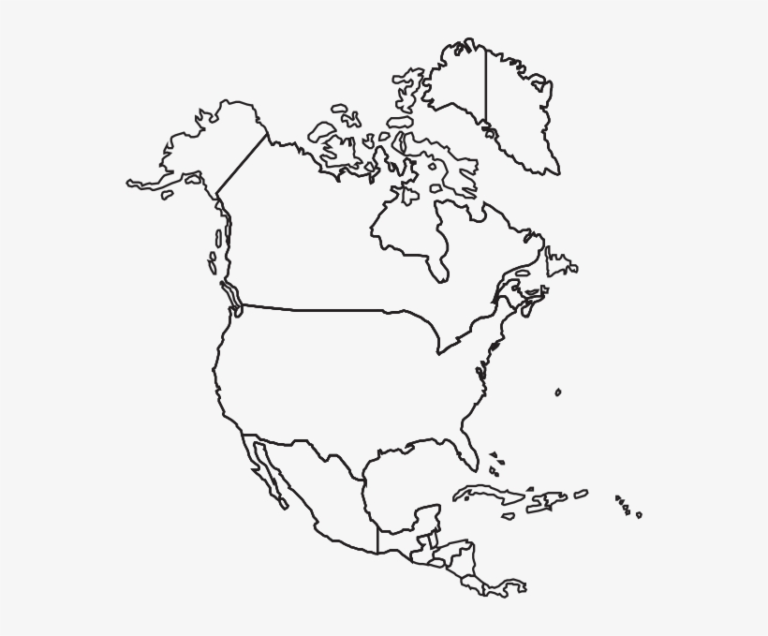 Printable North America Blank Map Free Transparent PNG