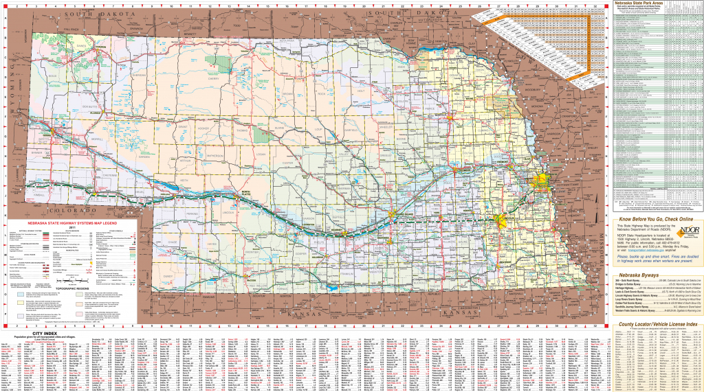 Printable Road Map Of Nebraska Printable Maps