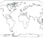 Printable Seven 7 Continents Map Of The World Blank
