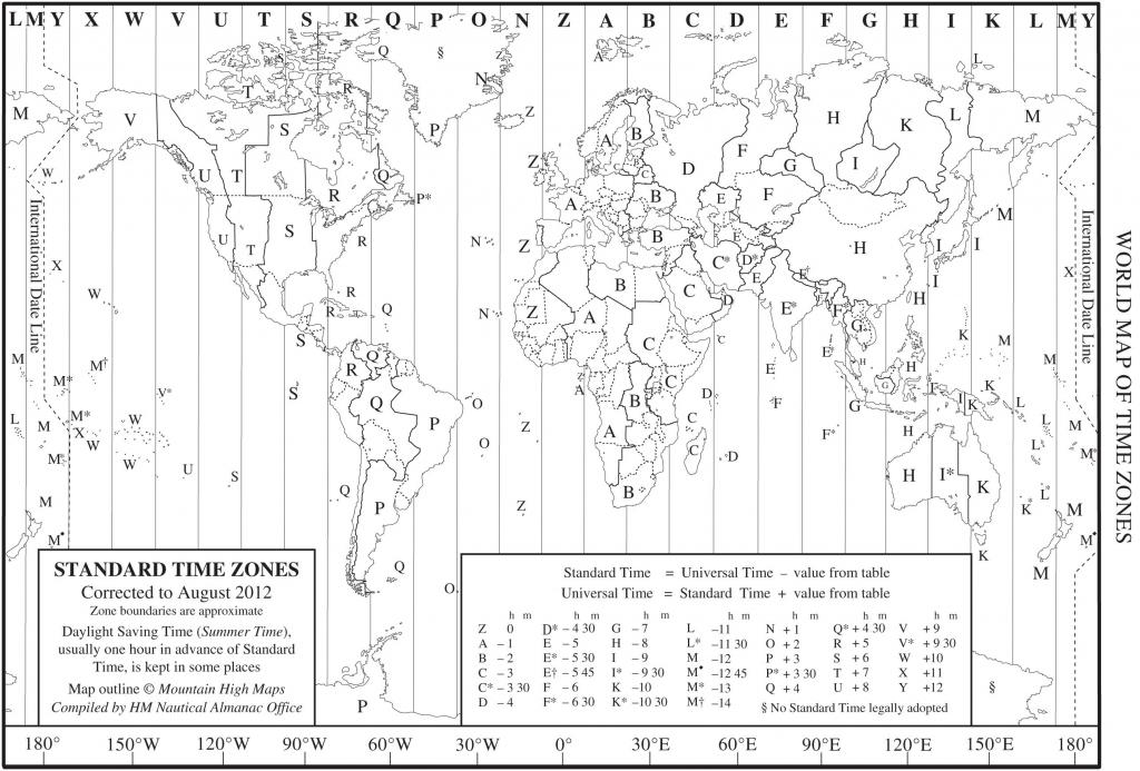 Printable Time Zone Map For Kids Printable Maps