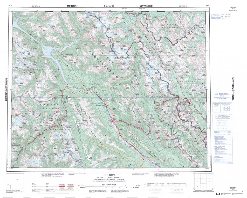 Printable Topographic Map Of Golden 082N Ab Printable