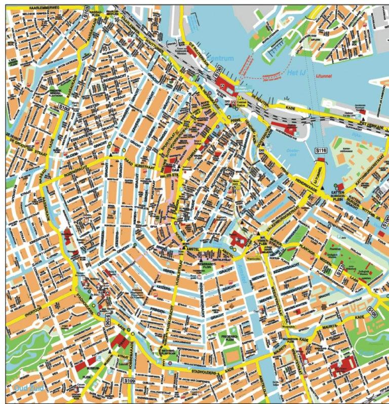 Printable Tourist Map Of Amsterdam Printable Maps