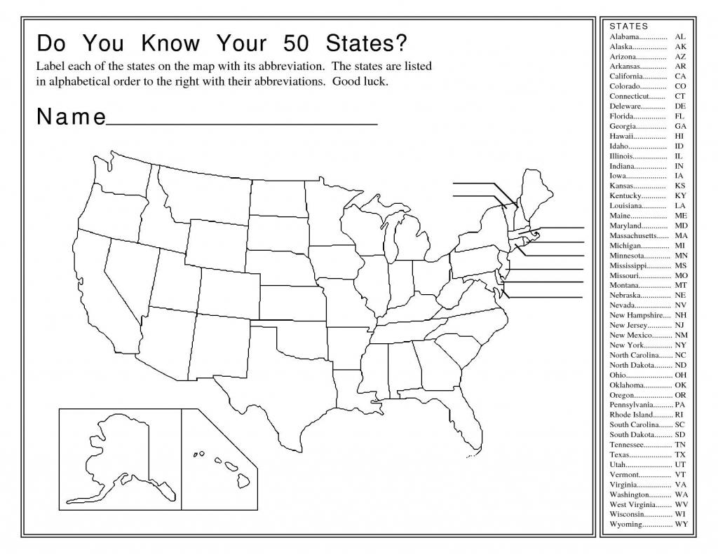 Printable United States Blank Map Quiz Printable US Maps