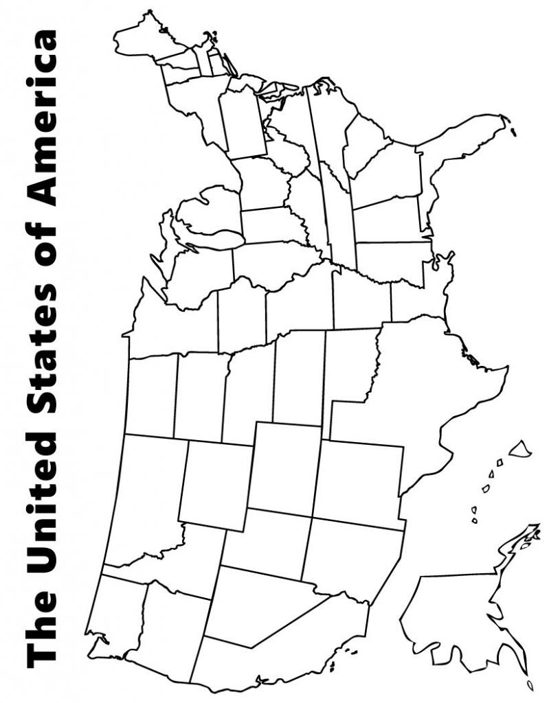 Printable Us Map Coloring Page Fresh Map Us Printable For