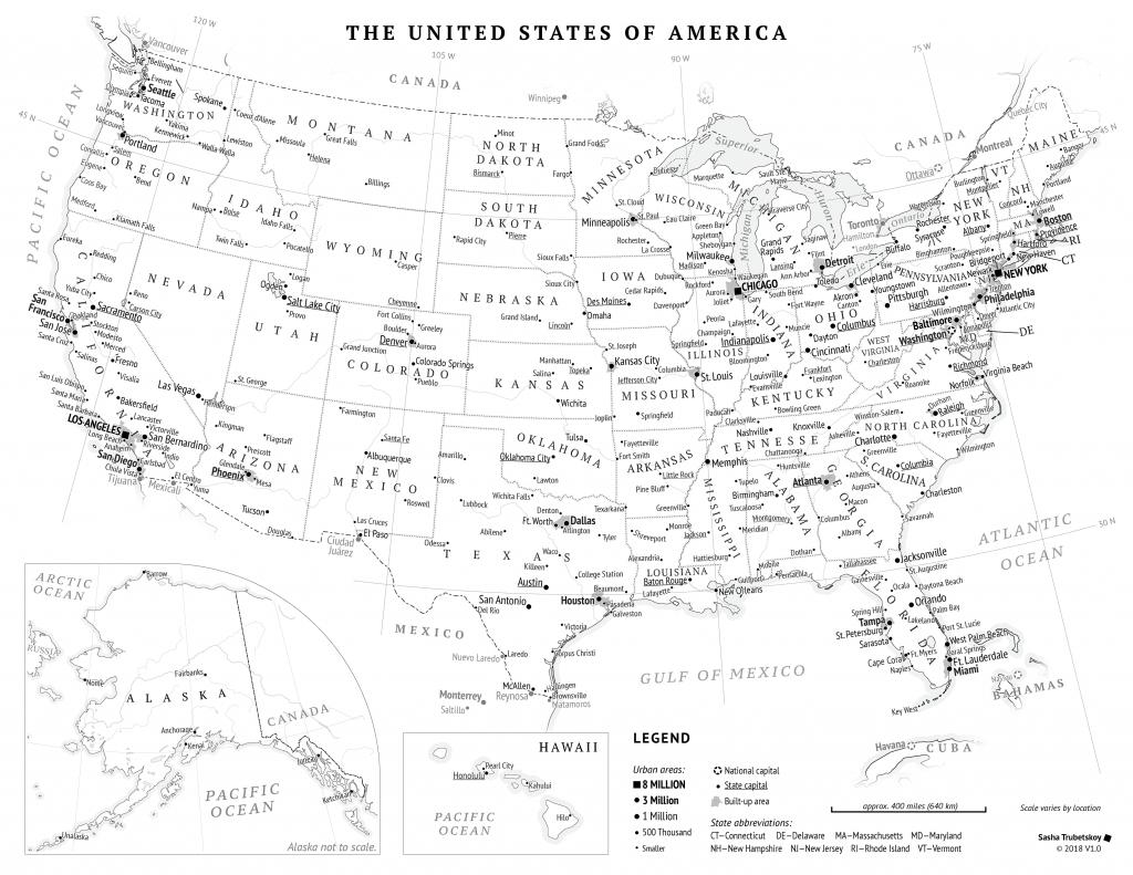 Printable Usa Map Black And White Printable US Maps