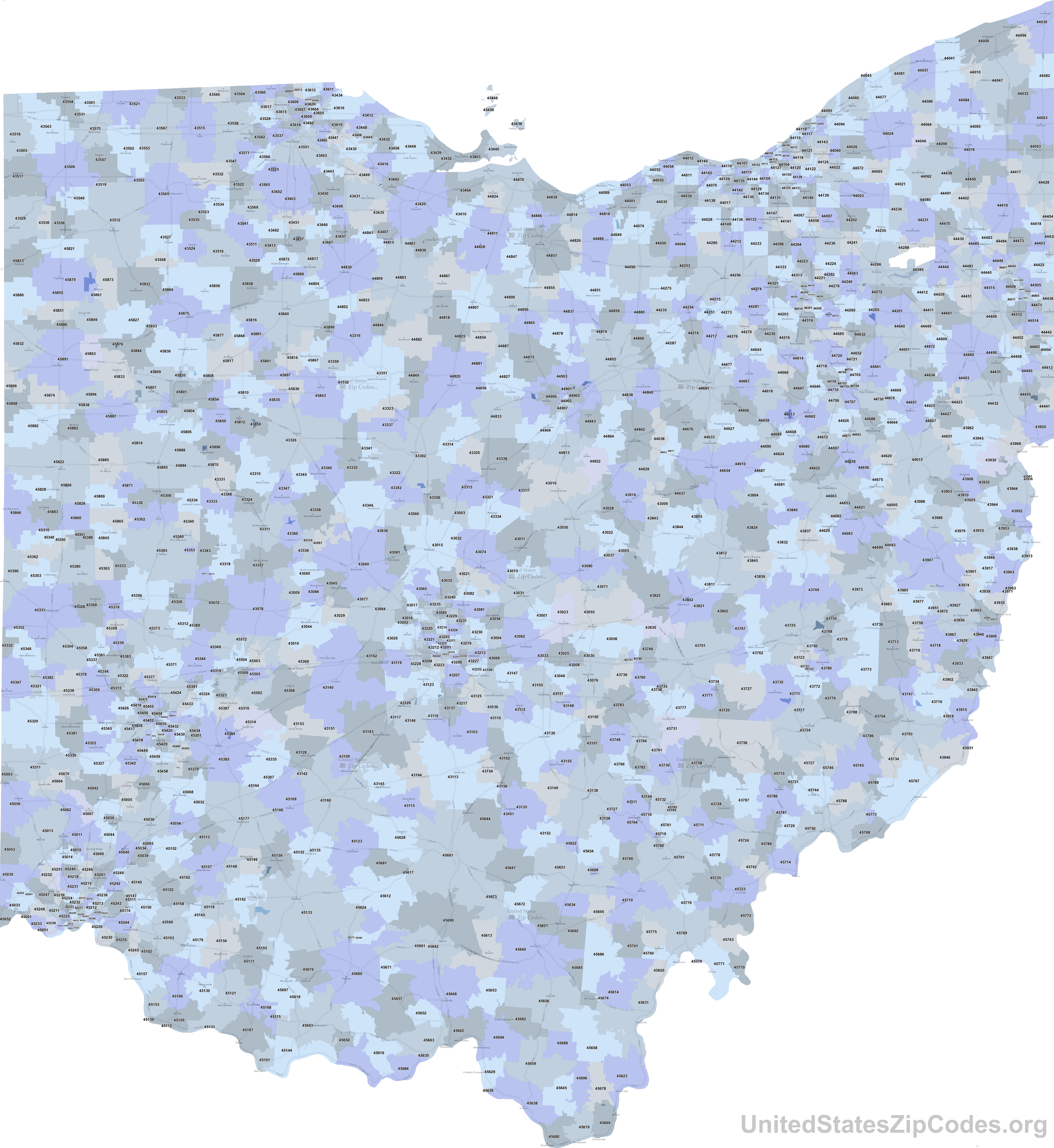 Printable ZIP Code Maps Free Download