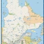 Quebec Province Map Digital Vector Creative Force