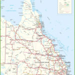 Queensland Map Road Australia 1 World Wide Maps Within