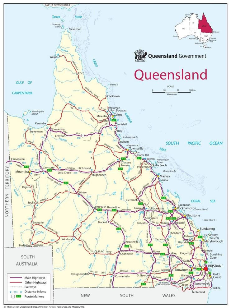 Queensland Road Map