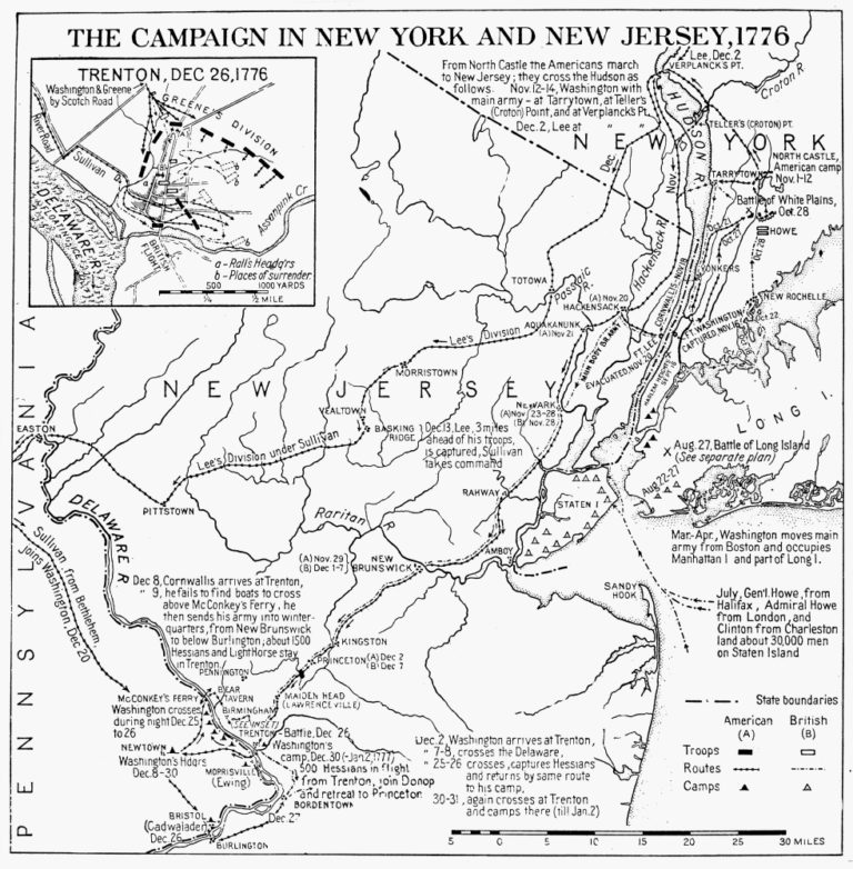 Revolutionary War Map 1776 Nplan Of The Campaign In New