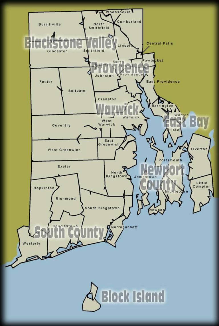 Rhode Island Map Free Printable Maps