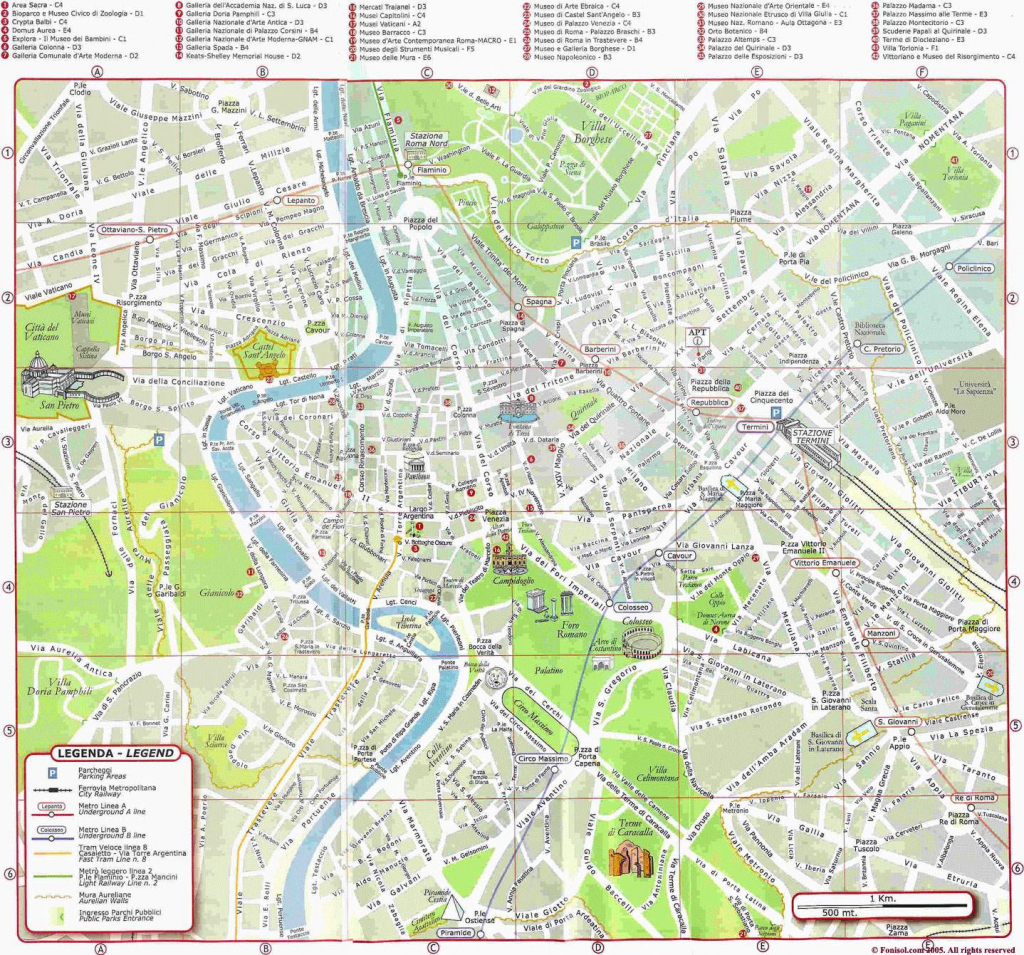 Rome Maps Italy Maps Of Rome Roma For Street Map