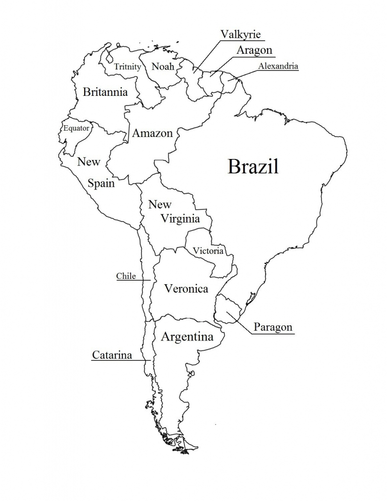 South America Outline Printable American Map 8