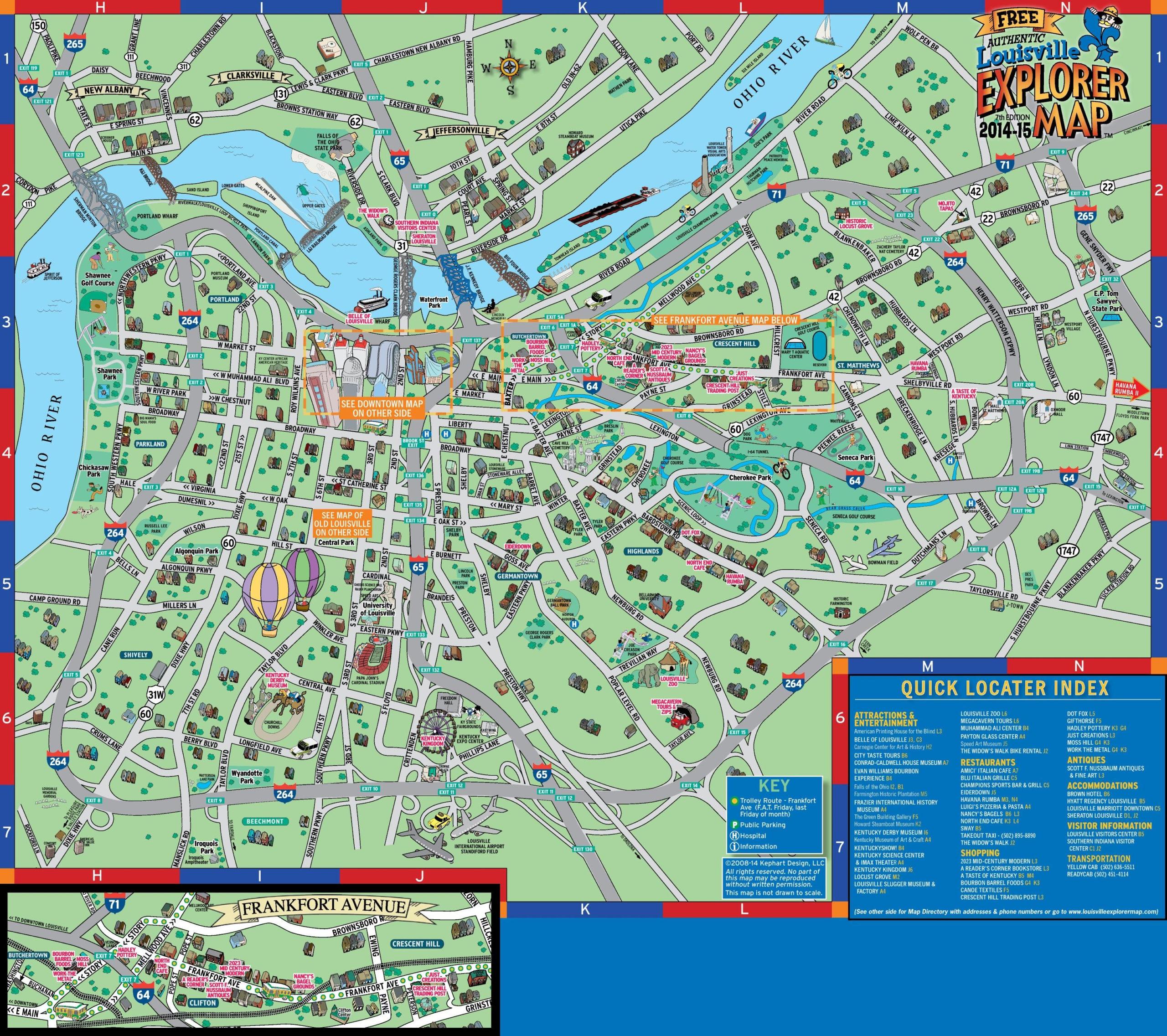 Street Map Louisville KY Street Map Of Louisville KY
