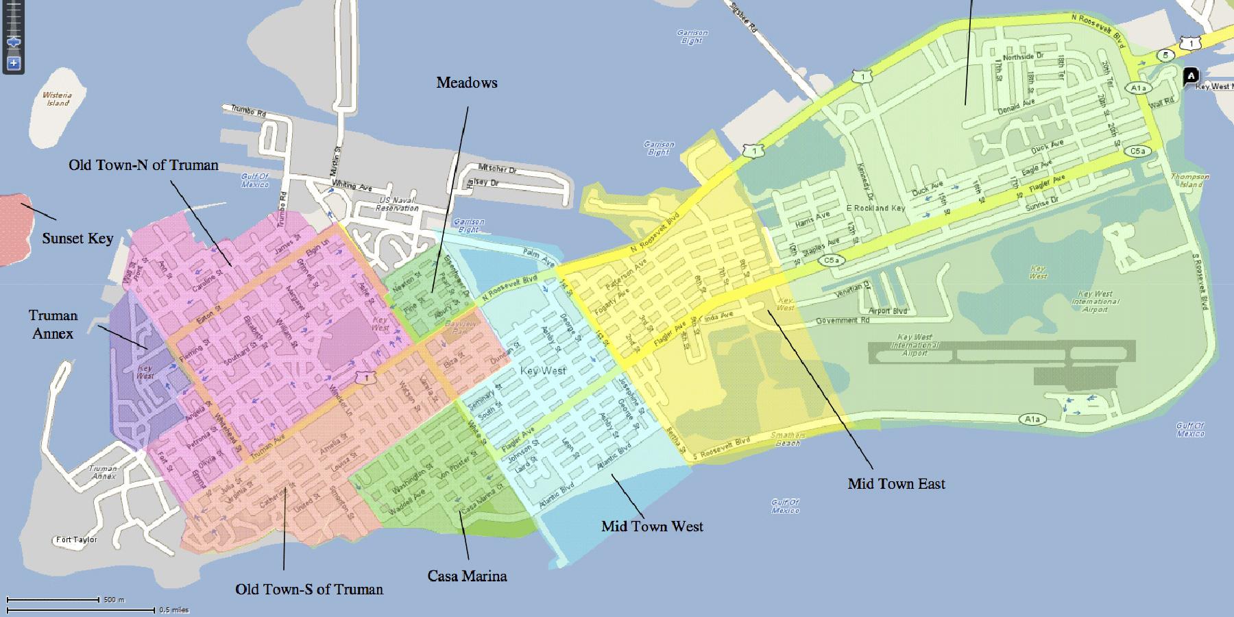 Street Map Of Key West Florida Printable Maps