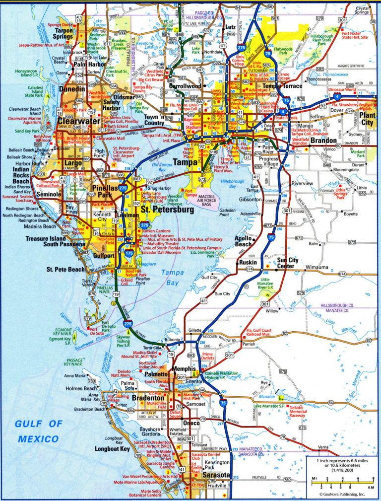 Tampa FL City Map Free Printable Detailed Map Of Tampa