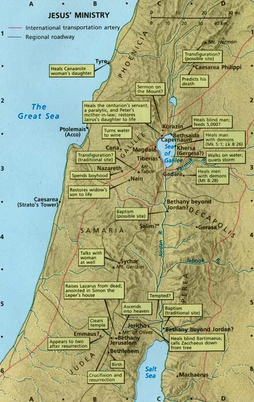 The Hauptmann s Jesus Ministry Map