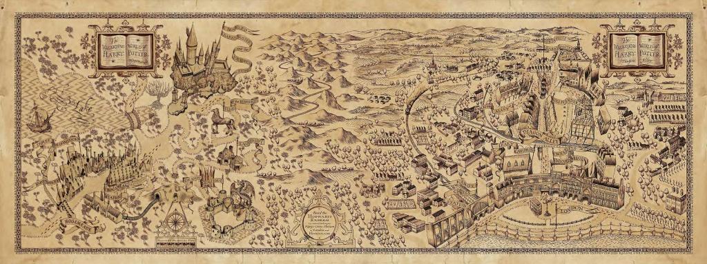 The Marauders Map Printable Free Printable Maps