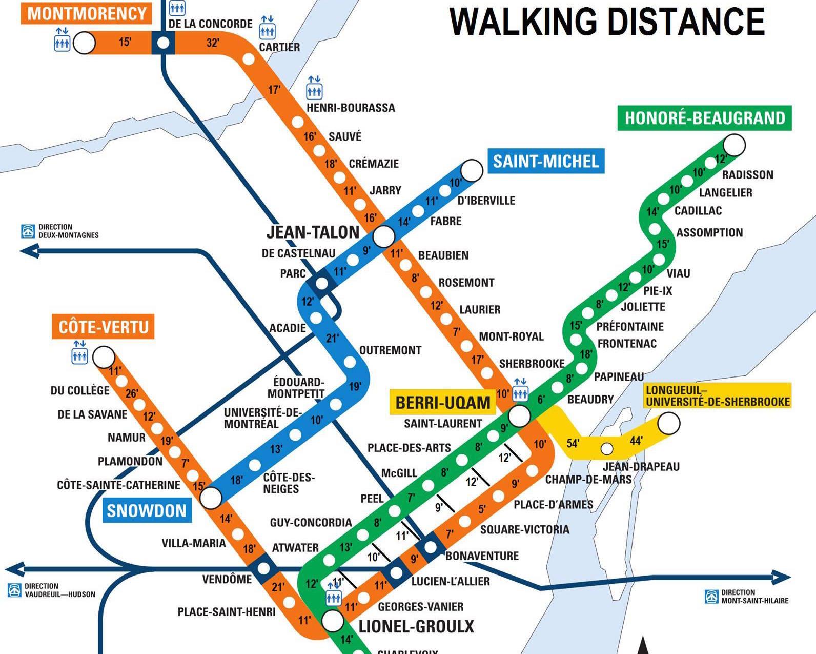 The Montreal Walking Distance Metro Map MTL Blog