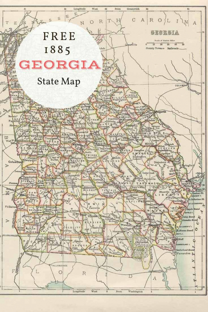 The State Of Georgia Map And Travel Information Download
