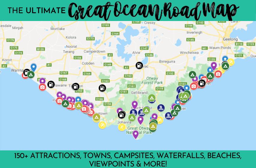 The ULTIMATE Great Ocean Road Map Great Ocean Road Guide