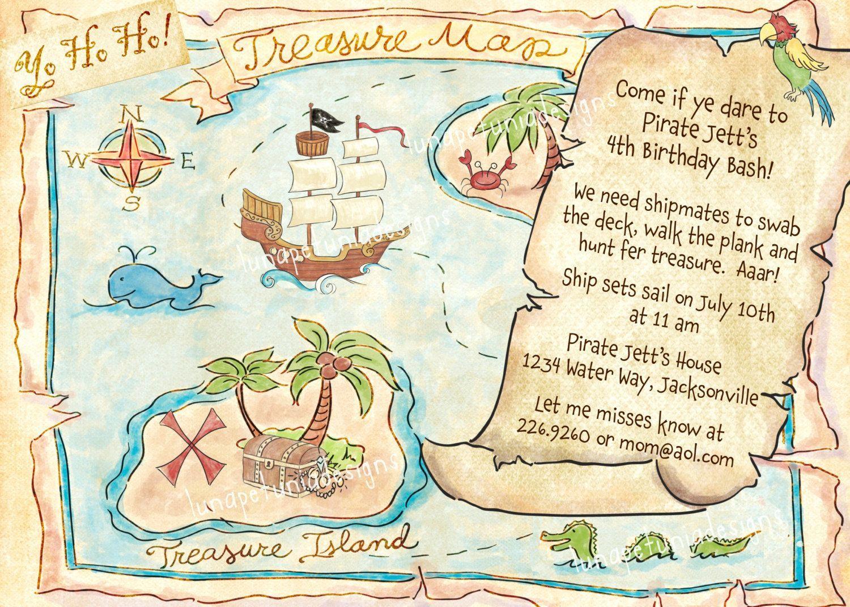 Treasure Map Invitation Template Business Template Ideas