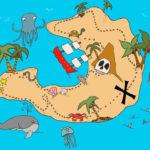 Treasure Map Pirate Maps Treasure Maps Kids Art Prints