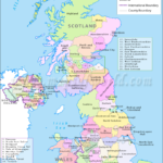 UK Counties Map Counties In United Kingdom