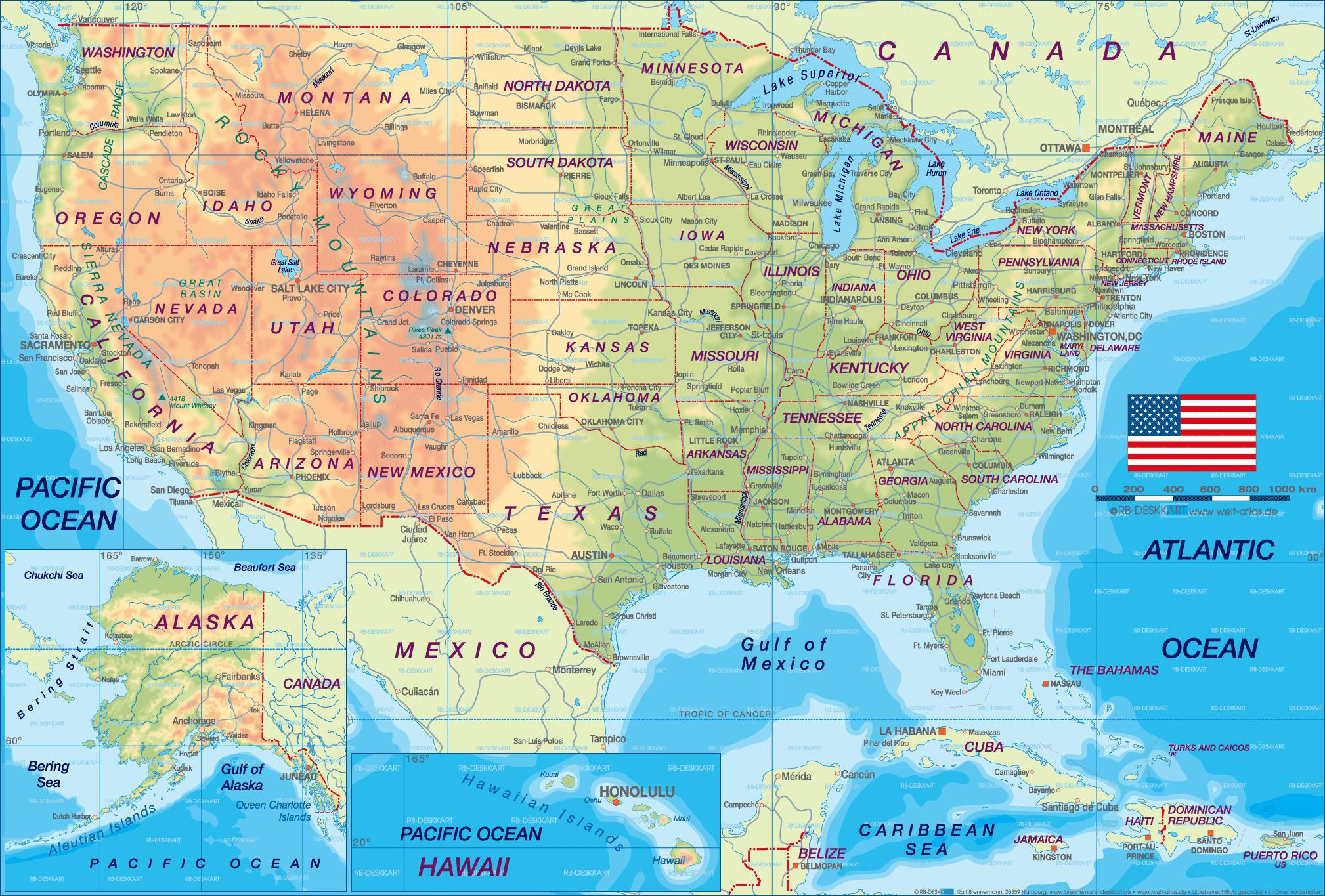 United States Cities Map Mapsof