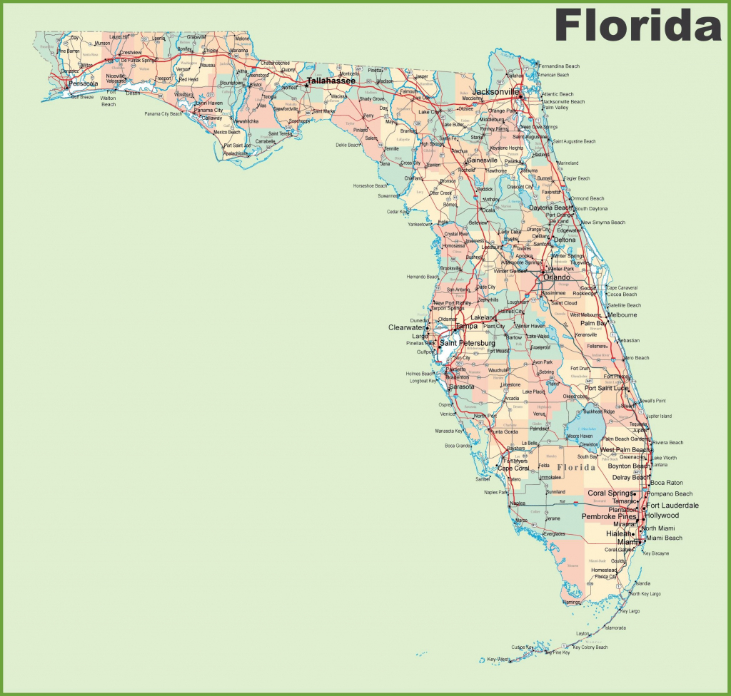 Vector Map Of Florida Political One Stop Map For