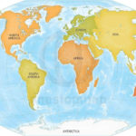 Vector Map Of World Bathymetry Continents One Stop Map