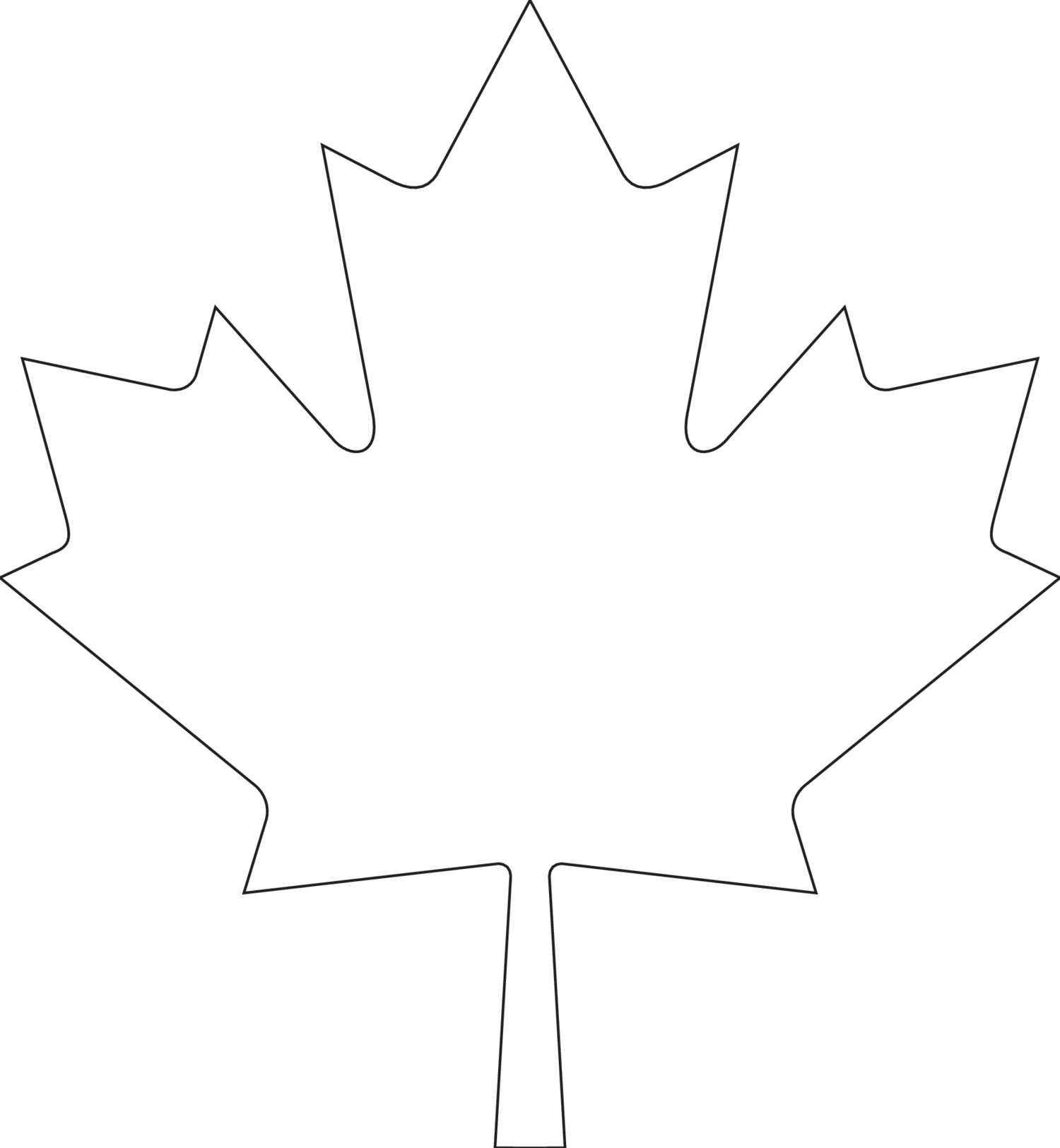 View And Download Canada Day Maple Leaf Template pdf On
