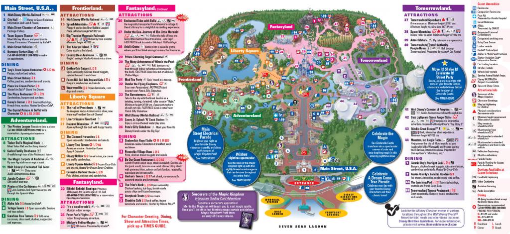Walt Disney World Printable Maps Printable Maps