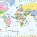 World Lat Long Map In 2020 Map Coordinates World Map