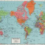 World Map Digital Print PRINTABLE Map Poster Antique