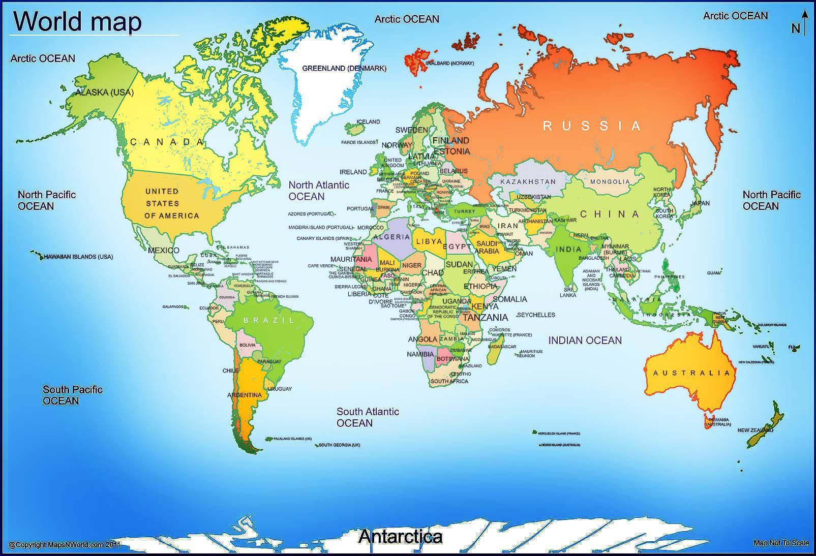 World Map Free Large Images Free Printable World Map