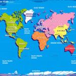 World Map Kids Printable