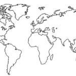 World Map Printable Coloring Pages Mapamundi Para