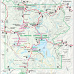 Yellowstone National Park Map The Northernmost Road Runs
